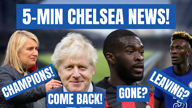CHELSEA NEWS IN FIVE MINUTES    LADIES CHAMPIONS   FANS BACK   TOMORI GONE   TAMMY LOAN DEAL?