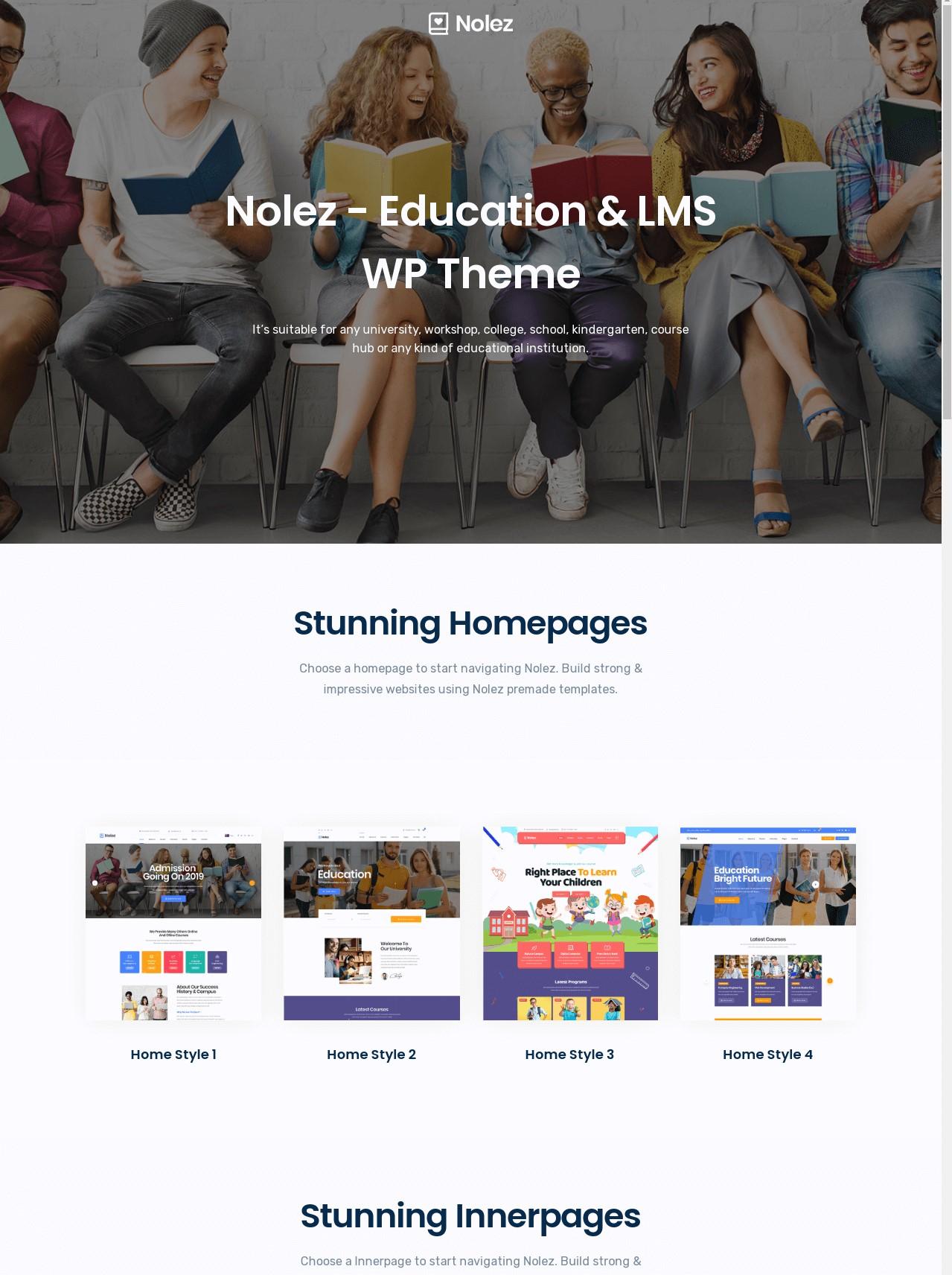Nolez  Education WordPress Theme