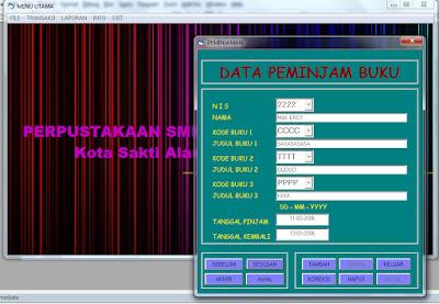 source coding program perpustakaan sekolah