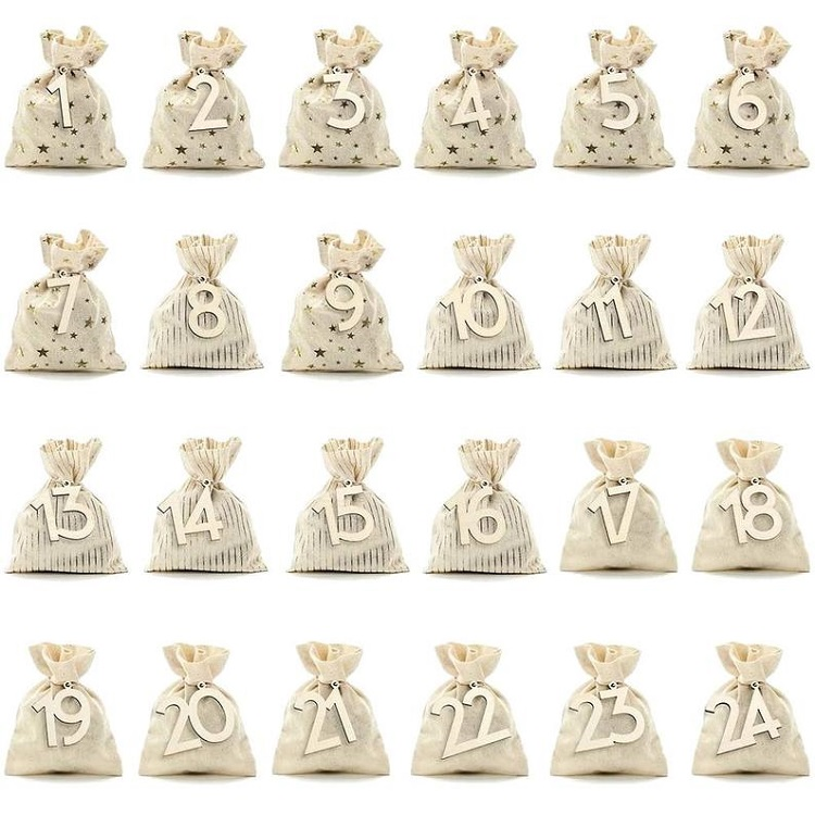 diy advent calendar bags with numbers