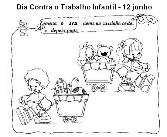 DIA MUNDIAL CONTRA O TRABALHO INFANTIL ATIVIDADES