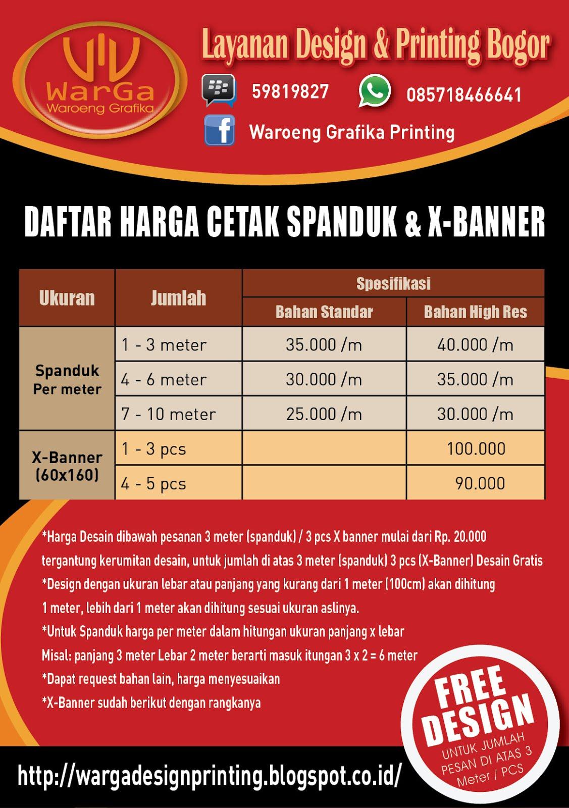 Waroeng Grafika: Design & Cetak X Banner / Banner ...