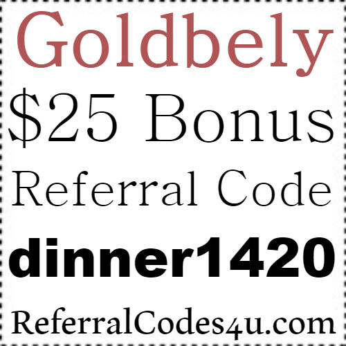 Goldbely Referral Code, Goldbely Sign Up Bonus, Goldbely Refer A Friend Bonus 2017-2018