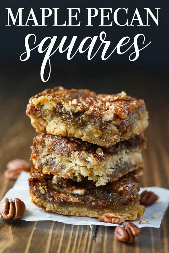 So addicting! They are a cross between a butter tart and pecan pie.