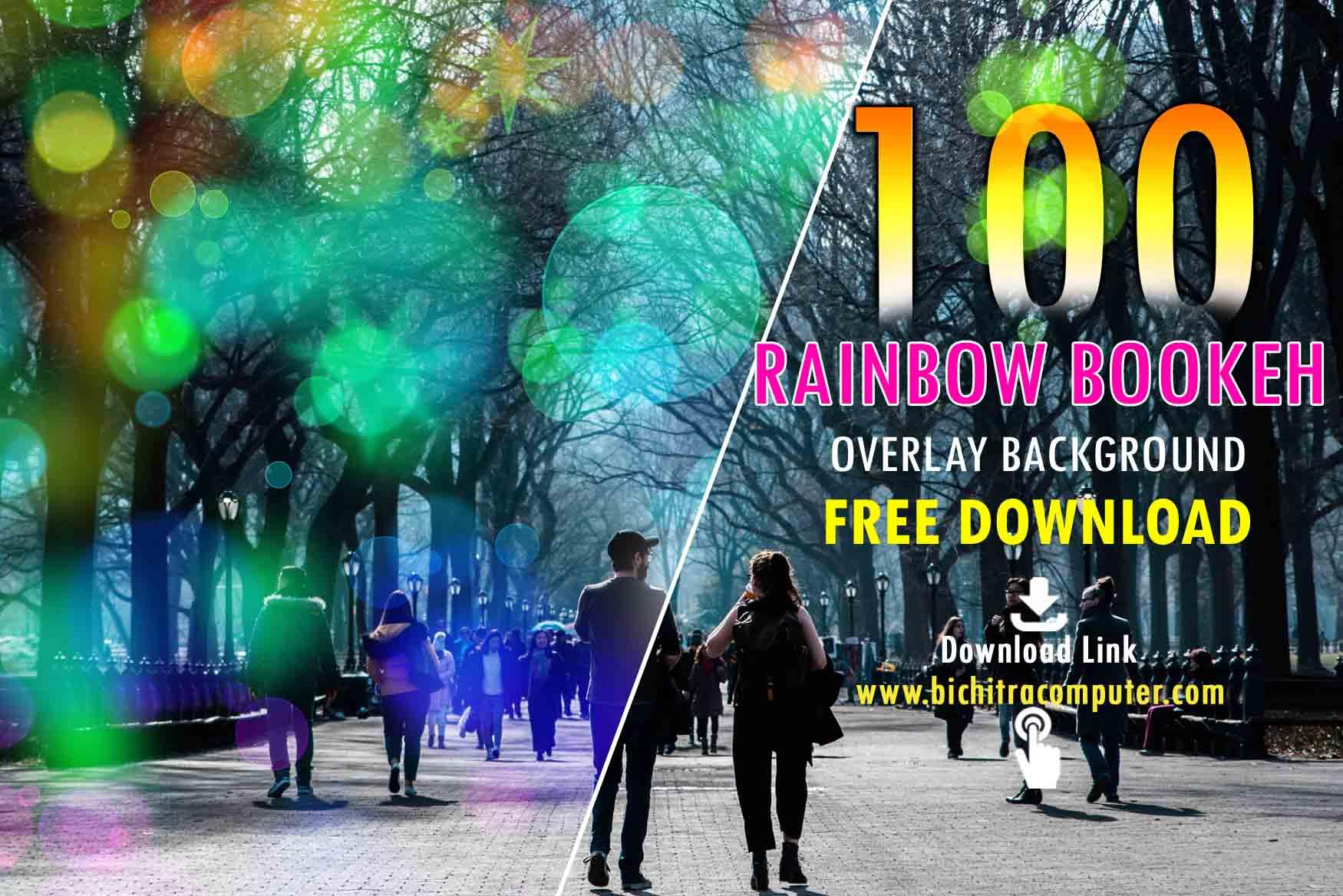 Rainbow, Bokeh, Overlays,