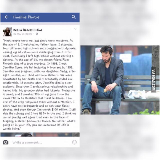 Kisah Sedih Hidup Keanu Reeves, Pelakon Berhati Mulia