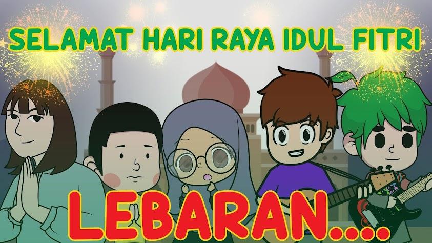 Selamat Hari Raya Idul Fitri Animasipul Kartun Lebaran