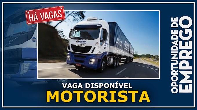 Transportadora Confins abre vagas para Motorista Carreteiro