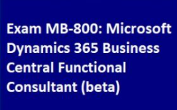 D365/BC:-First Beta Certification available for Functional Consultant with 80% Discount Offer