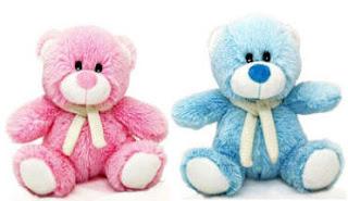 Ositos de azul y rosa