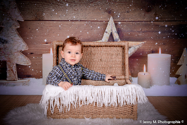 photo enfant déco noËl portrait studio
