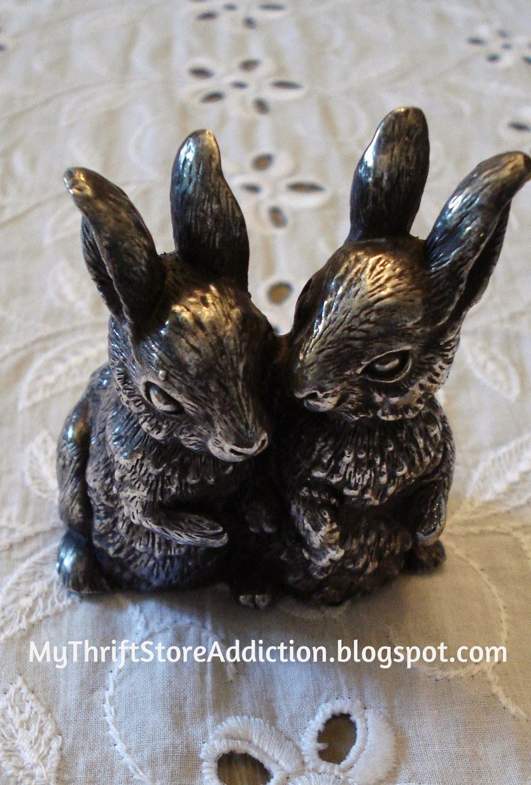 Vintage sterling silver bunnies