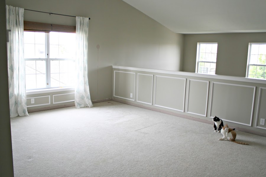 Wainscoting on walls