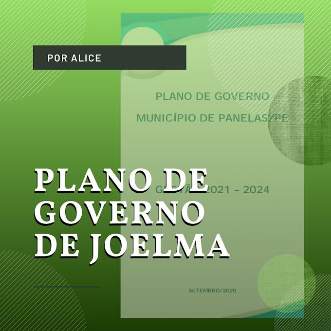 O PLANO DE GOVERNO DE JOELMA