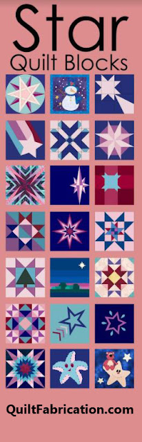 numerous blue, purple, pink star quilt blocks