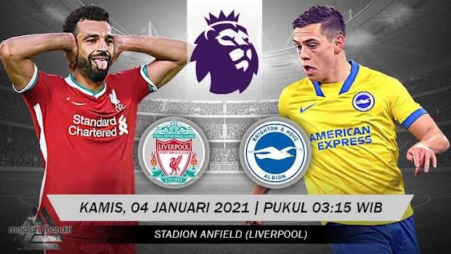 Prediksi Liverpool Vs Brighton Hove Albion