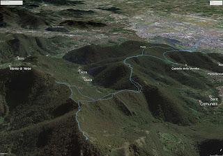 Bergamo to Canto Alto Hike Tracks
