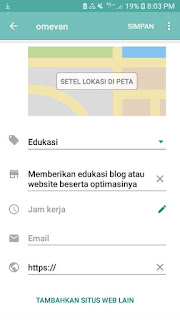 Menambahkan keterangan profile whatsapp bisnis whatsapp