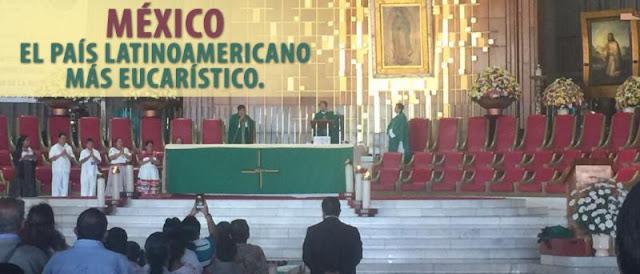 México, el país latinoamericano más eucarístico.