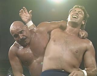 WCW Great American Bash 1990 - Iron Sheik vs. Captain Mike