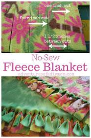 how to make fleece no sew blankets