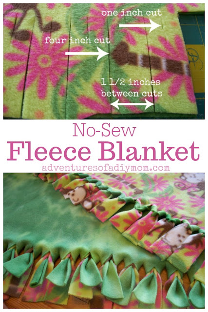 how to make fleece no sew blankets