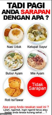 Makanan terbaik untuk anda Sarapan Pagi