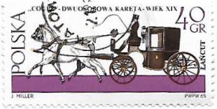 Selo Cavalos e a Carruagem cupê