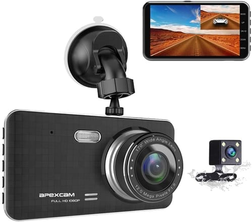 Review Apexcam TOUR 4 Dash Cam for Car