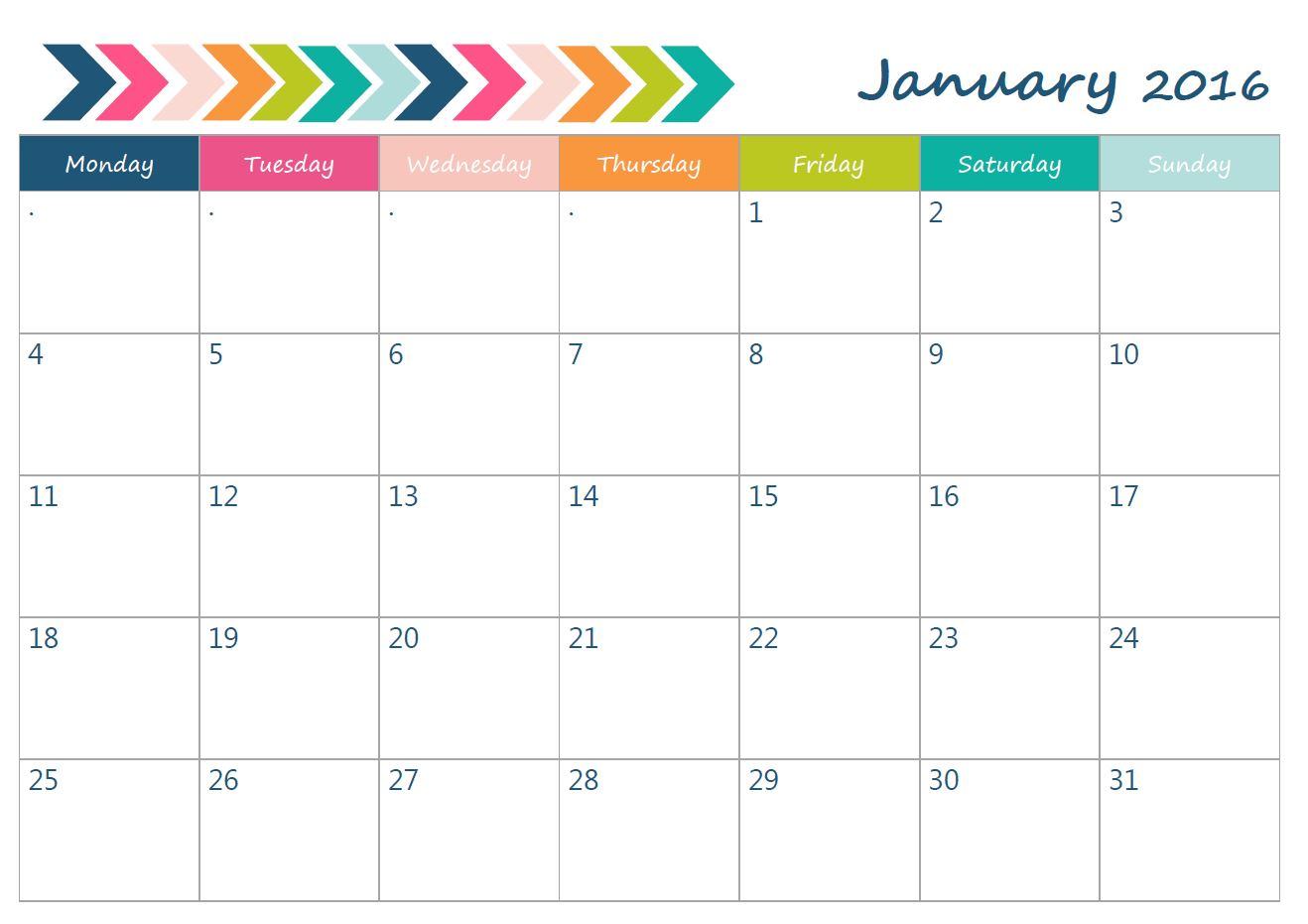 Blank Calendars To Print Without Downloading | Calendar ...