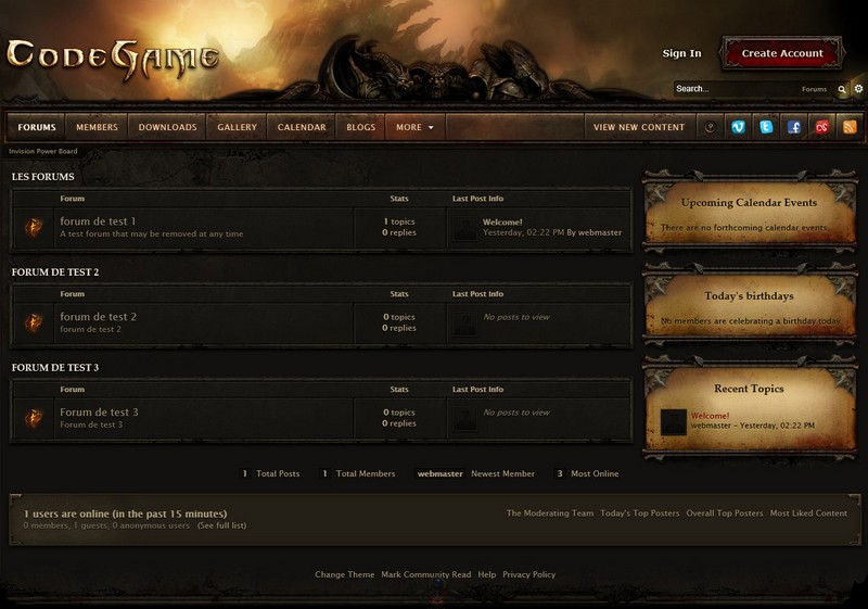 Download Theme Diablo 3 Invision Power Board - Nulled Theme