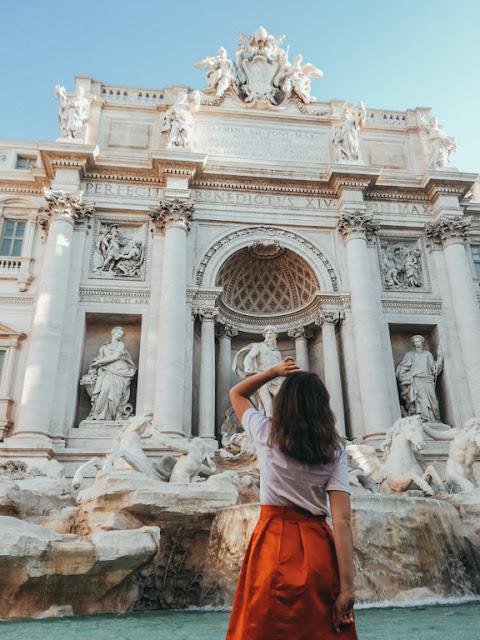 Rzym; Rome; Italy; Włochy; fontanna di trevi