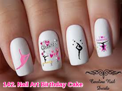 Nail Art Birthday Cake