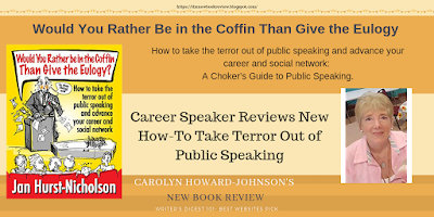 Career Speaker Reviews New How-To Take Terror Out of Public Speaking