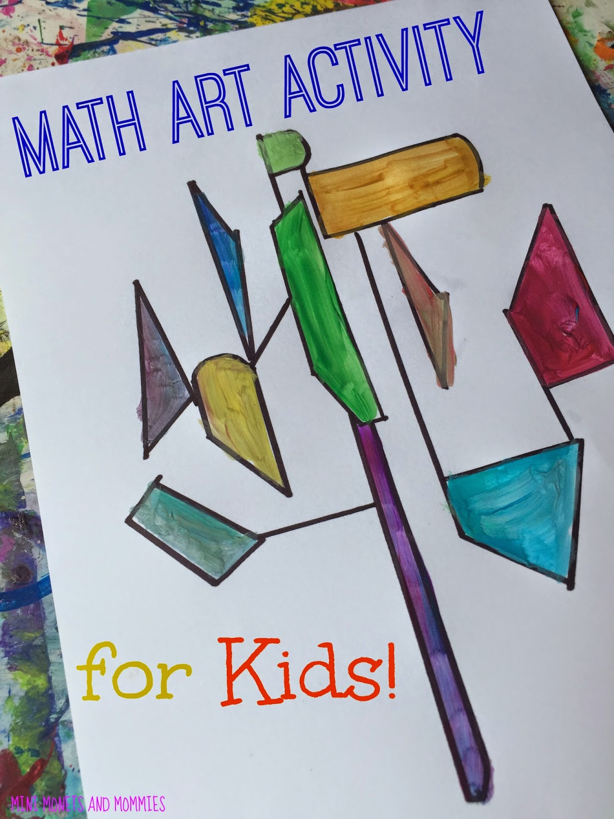 Mini Monets And Mommies Mondrian Makes Kids Math