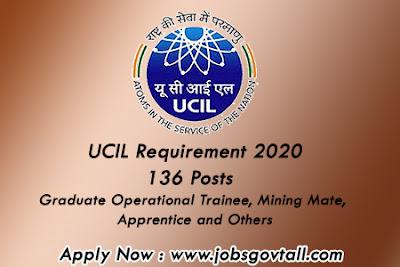 Ucil Requirement 2020@jobsgovtall.com