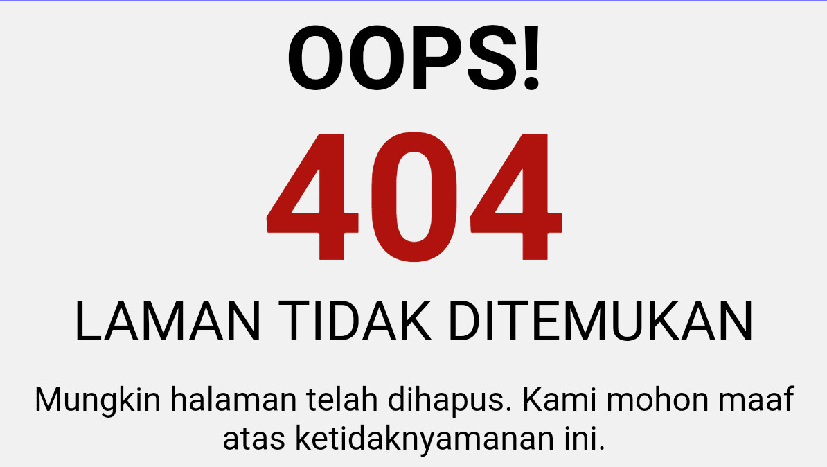 Redirect Otomatis Halaman Error 404 ke Homepage