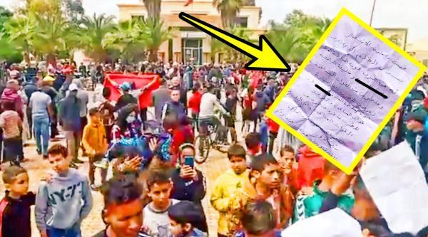 """انتحار """"بائع جائل"""" يخرج المئات من المواطنين بـ""""بوفكران"""" للاحتجاج بعد العثور على رسالة مثيرة تركها قبل وفاته (صورة)"""