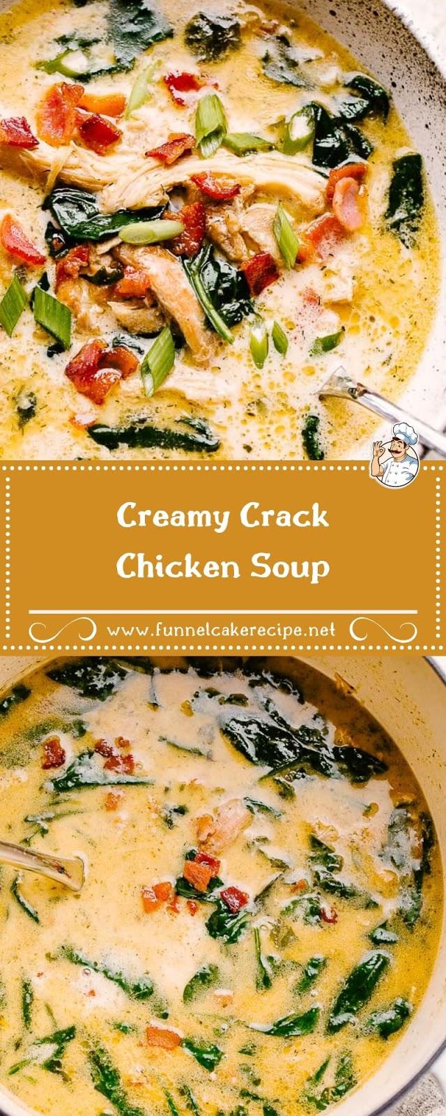 Creamy Crack Chicken Soup