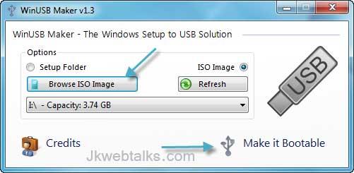 Make Bootable Usb From Windows Setup Dvd Or Iso Image