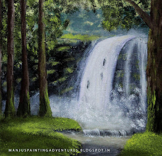 waterfall - paintings