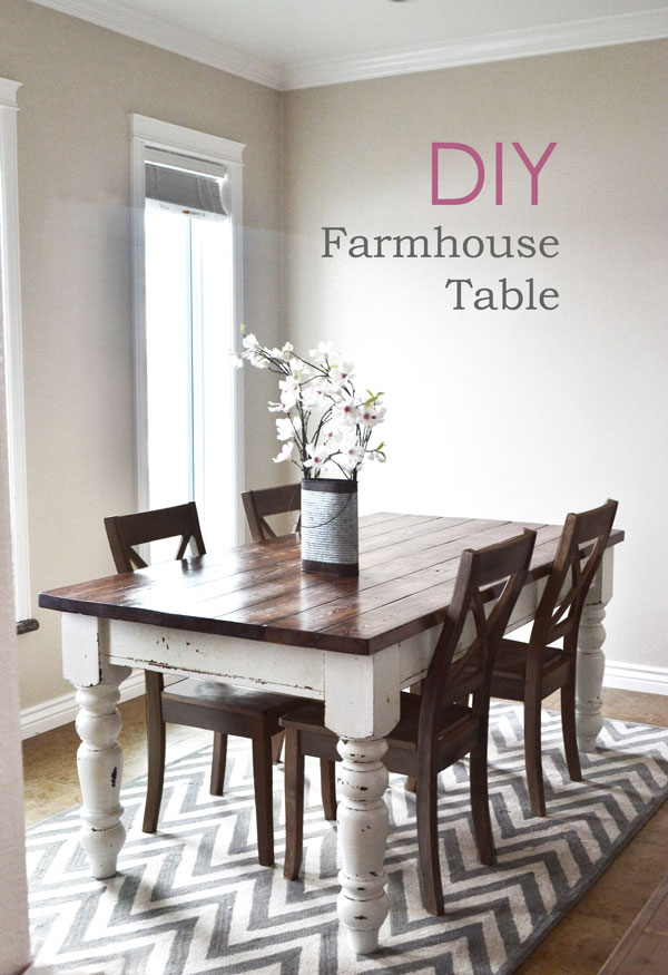 12 Beautifully Rustic Diy Farmhouse Tables Little House