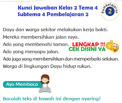 Kunci Jawaban Kelas 2 Tema 4 Subtema 4 Pembelajaran 2 www.simplenews.me