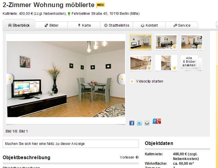 2 zimmer wohnung m blierte kaltmiete 400 00 zzgl nebenkosten. Black Bedroom Furniture Sets. Home Design Ideas