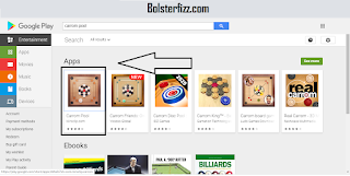 Search bar at the top of the Bluestacks