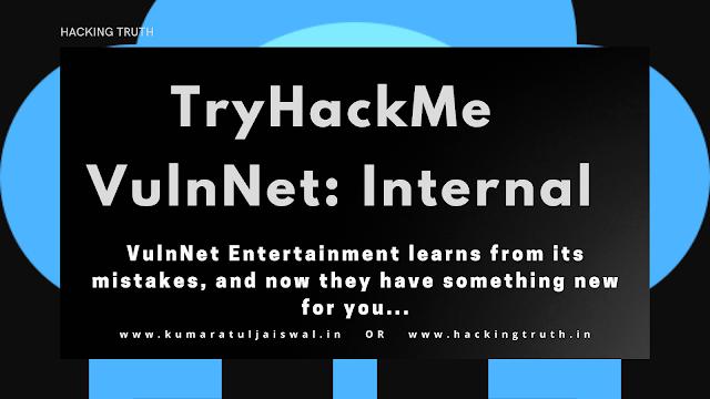 TryHackMe VulnNet Internal As a Penetration Testing