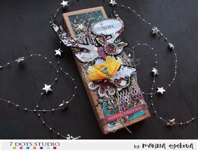 @marinasyskova #scrap #scrapbooking #giftbox #alteredart #xmas #7dotsstudio #mixedmedia