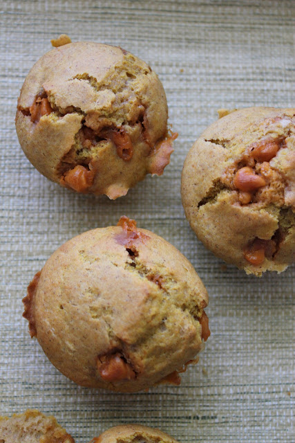 These easy pumpkin butterscotch muffins are an easy way to start fall mornings!