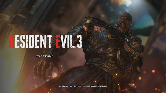 Resident Evil 3 Remake main menu