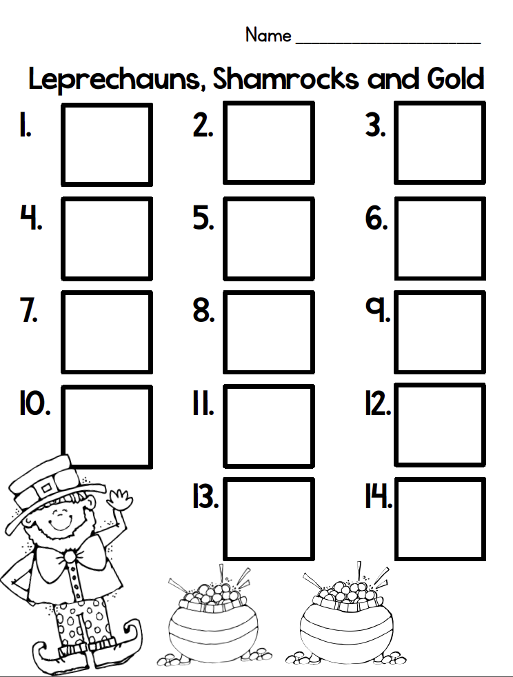 Classroom Freebies Too: Leprechaun C.G.I. Task Cards